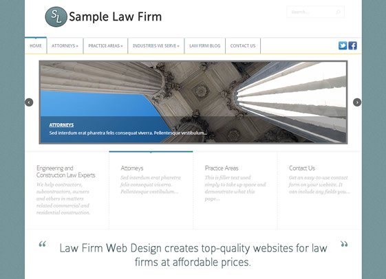 Fit contemporary website design for law firms