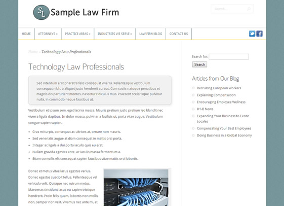 Fit Web design theme for law firms