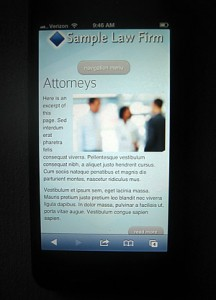 Sample mobile website for law firms