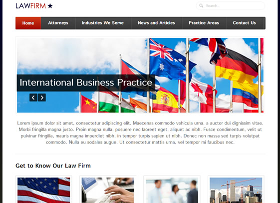 Vocation contemporary website design for lawyers