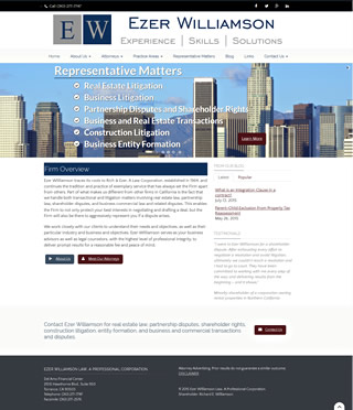 Law Firm Web Design Sample - Ezer Williamson