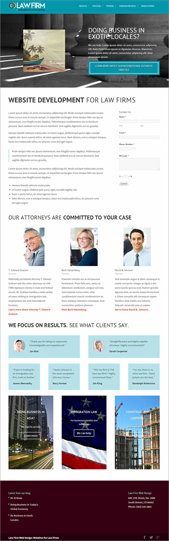 Vires WordPress Theme for Law Firms