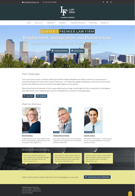 Corona WordPress Design for Law Firms and Attorneys